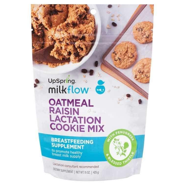 UpSpring Milkflow Fenugreek Oatmeal Raisin Lactation Cookie