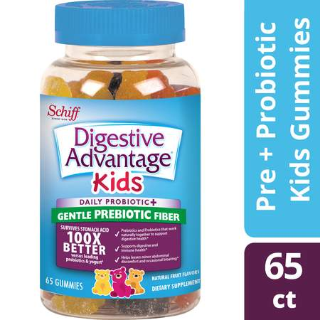 Digestive Advantage KIDS Prebiotic Fiber Plus Probiotic Gummies