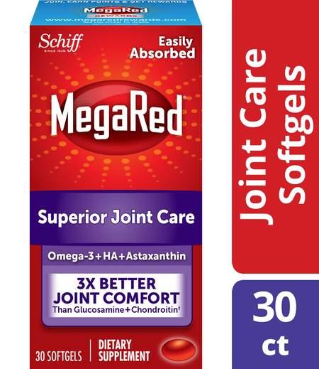 MegaRed Joint Care Omega3 Krill Oil Hyaluronic Acid & Astaxanthin
