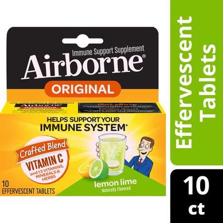 Airborne Lemon Lime Effervescent Immune Support