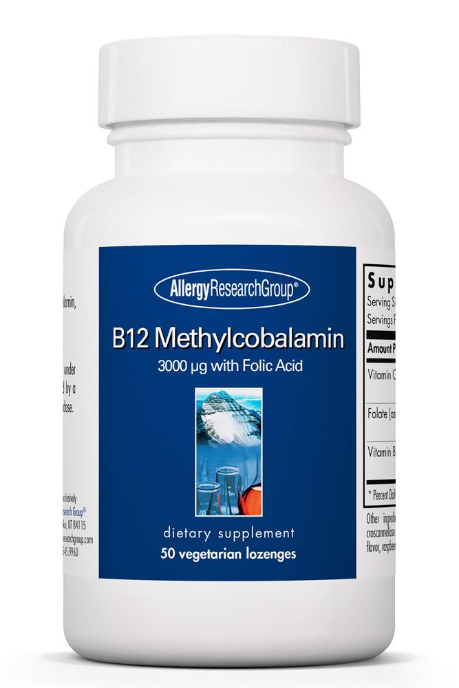 B12 Methylcobalamin 50 Vegetarian Lozenges