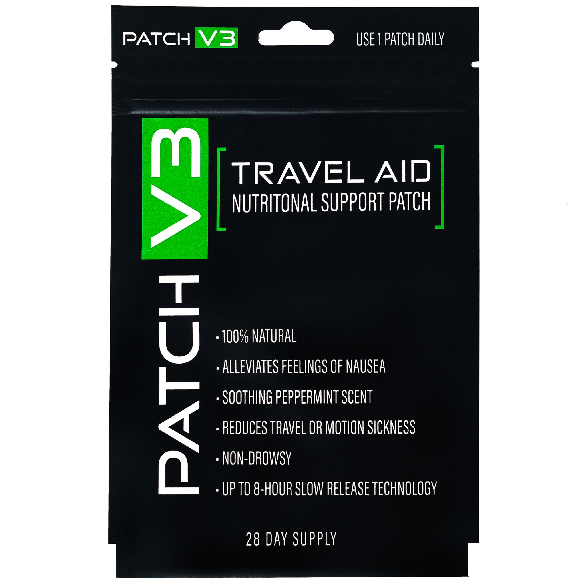 Travel Vitamin Patches (Adesivos de vitaminas para Náusea em Viagens)